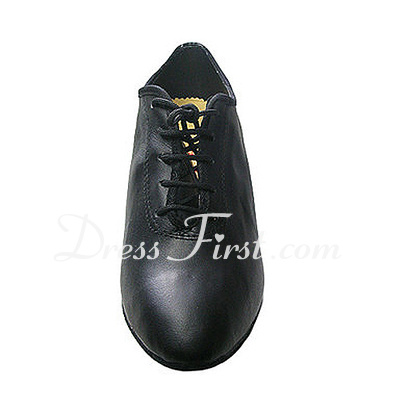 Real Leather Heels Pumps Ballroom Swing Dance Shoes (053013017)