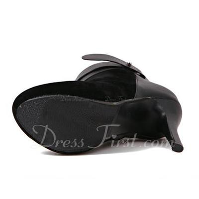 Süet İnce Topuk Pompalar Platform Kapalı Toe Bot Ayak bileği Boots Ile Toka Fermuar ayakkabı (088057540)