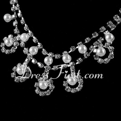 Alloy/Pearl With Crystal Ladies' Jewelry Sets (011027187)