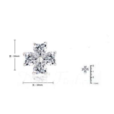 Benzersiz Zirkon/Platin Kaplama Bayanlar Küpeler (011057466)
