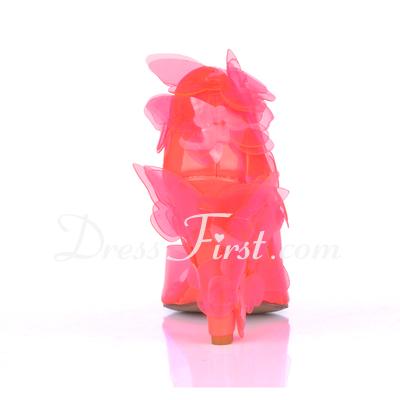 PVC Obcas Koturnowy Sandały Kliny Z Kwiat obuwie (087015260)