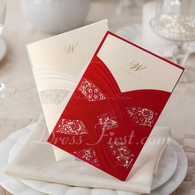 Artistic Style Wrap & Pocket Invitation Cards (Set of 20) (114055129)