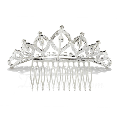 Glamourous Rhinestone/Alloy Tiaras/Combs & Barrettes (042027961)