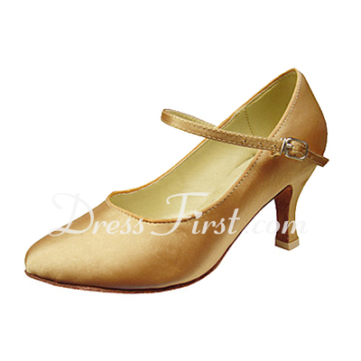 Women's Satin Heels Pumps Modern Dance Shoes (053013240)