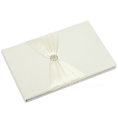 Beautiful Rhinestones/Bow Guestbook & Pen Set (101037370)
