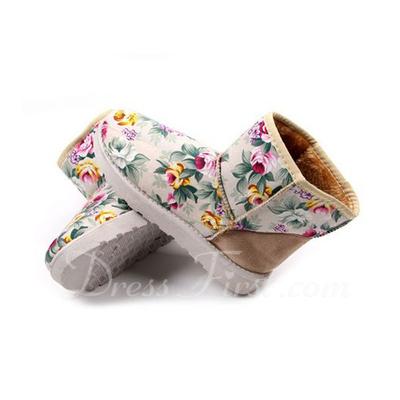 Süet Düz Topuk Ayak bileği Boots Kar Boots Ile Yivli Conta ayakkabı (088057589)