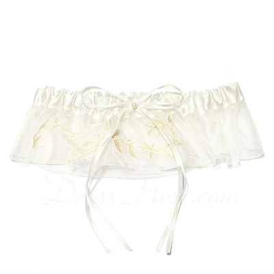 Designer Satin Wedding Garters (104019501)