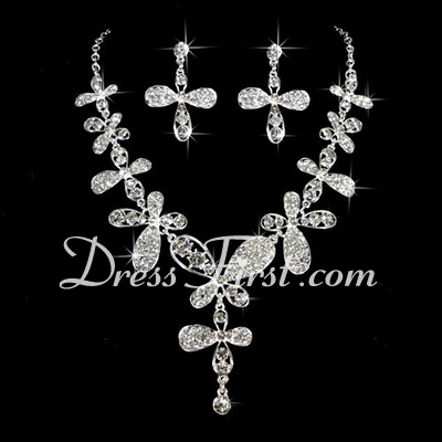 Gorgeous Alloy/Rhinestones Ladies' Jewelry Sets (011026991)