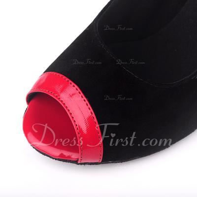 Kadın Topuk Sandalet Latin Ile Ayakkabı Askısı Dans Ayakkabıları (053057181)
