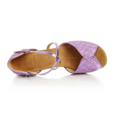 Kadın Suni deri Topuk Sandalet Latin Ile Ayakkabı Askısı Dans Ayakkabıları (053056404)