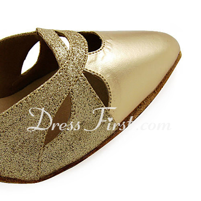 Women's Leatherette Sparkling Glitter Heels Pumps Modern Dance Shoes (053013528)