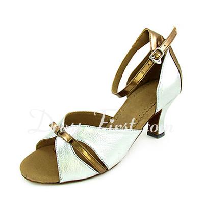 Kadın Suni deri Rugan Topuk Sandalet Latin Ile Ilmek Dans Ayakkabıları (053013305)