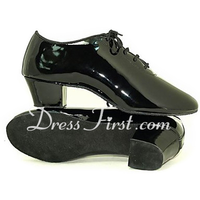 Men's Patent Leather Pumps Latin Ballroom Dance Shoes (053013227)