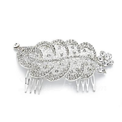 Alloy With Rhinestones Wedding Hair comb (042016812)