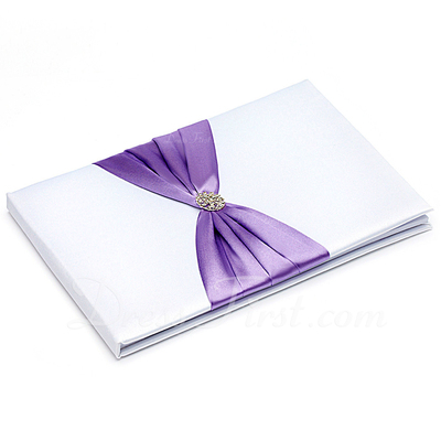 Splendor Rhinestones/Bow Guestbook & Pen Set (101018132)