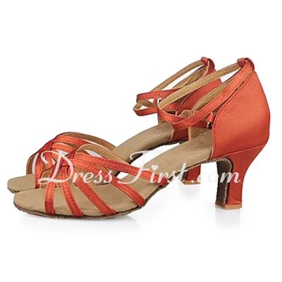 Women's Satin Sandals Latin Dance Shoes (053013191)