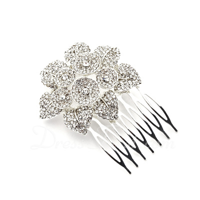 Alloy With Rhinestones Wedding Hair comb (042016808)