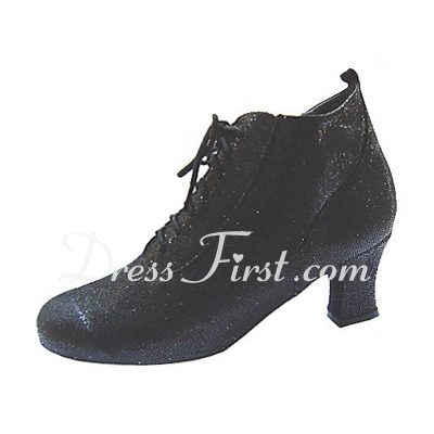 Women's Leatherette Heels Pumps Swing Dance Shoes (053013475)