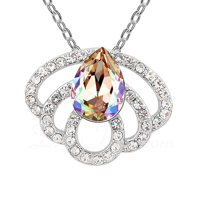 Elegant Alloy/Platinum Plated With Crystal Ladies' Necklaces (011054881)