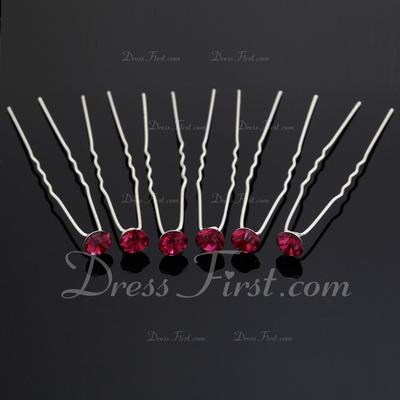 Fashion Rhinestone/Alloy Hairpins (Set of 6) (042055973)
