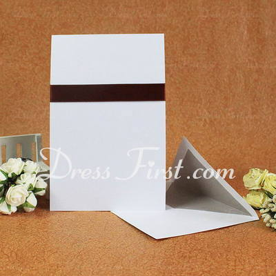 Classic Style Flat Card Invitation Cards With Bows/Ribbons (Set of 50) (114030718)