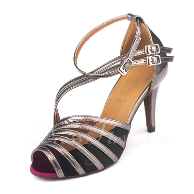 Women's Leatherette Heels Sandals Latin With Buckle Dance Shoes (053049994)