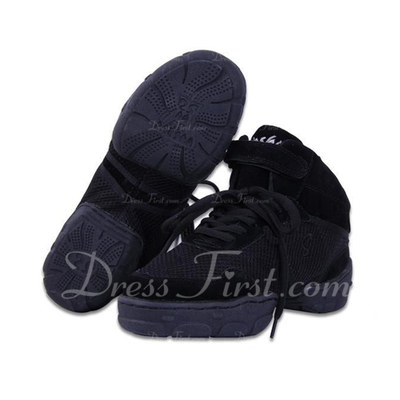 Women's Men's Canvas Sneakers Practice With Lace-up Dance Shoes (053056412)