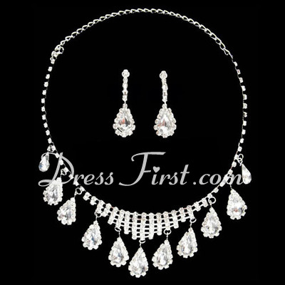 Elegant Alloy/Rhinestones Ladies' Jewelry Sets (011026994)