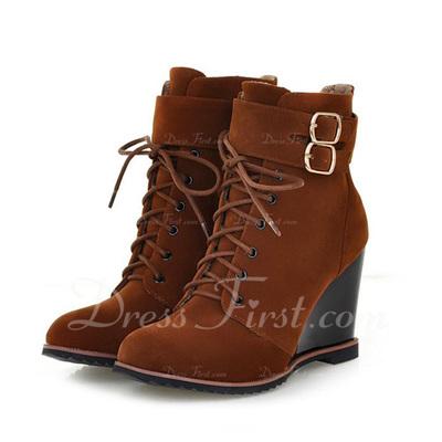 ante Tipo de tacón Botas al tobillo con Hebilla zapatos (088054398)