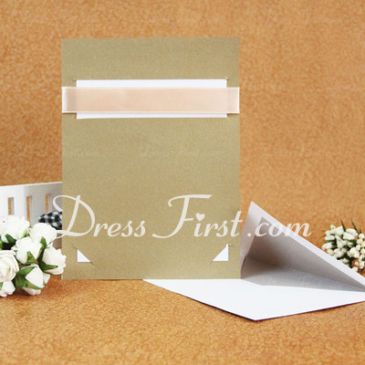 Classic Style Flat Card Invitation Cards With Ribbons (Set of 50) (114030774)