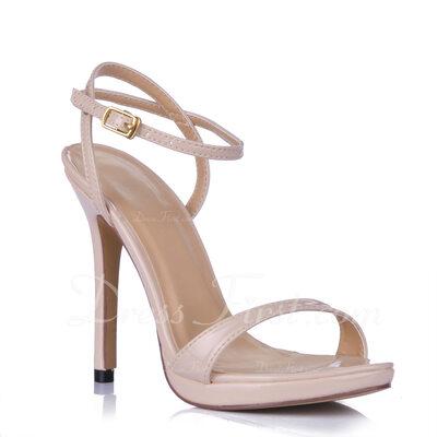Kadın Suni deri İnce Topuk Sandalet Arkası açık iskarpin ayakkabı (087015262)