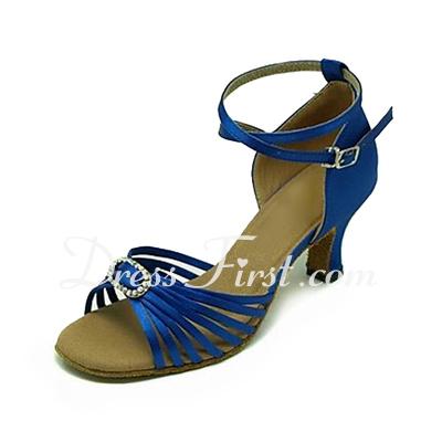 Kadın Satin Sandalet Latin Ile Ayakkabı Askısı Dans Ayakkabıları (053013147)