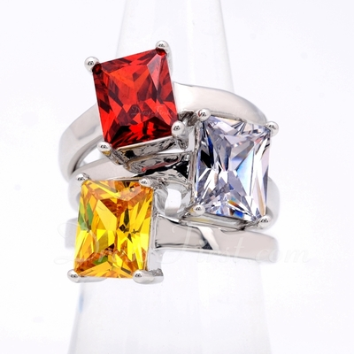 Nice Zircon/Platinum Plated Ladies' Rings (011055237)
