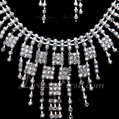 Beautiful Alloy/Rhinestones Jewelry Sets (011055135)