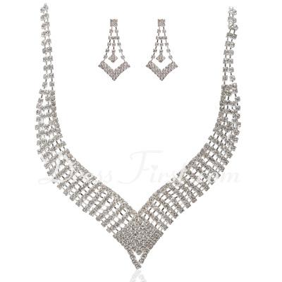 Gorgeous Alloy With Rhinestone Ladies' Jewelry Sets (011027596)