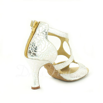 Women's Leatherette Heels Sandals Latin With Buckle Dance Shoes (053057145)