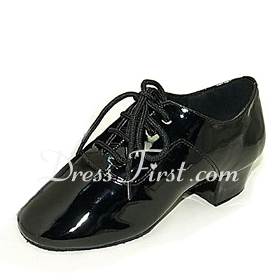 Kids' Patent Leather Latin Ballroom Dance Shoes (053013580)