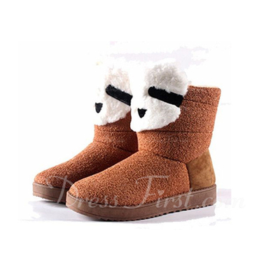 Suede Flat Heel Ankle Boots Snow Boots shoes (088057585)