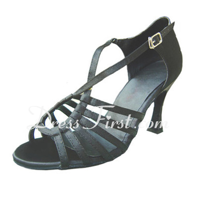 Women's Satin Heels Sandals Latin Dance Shoes (053012989)