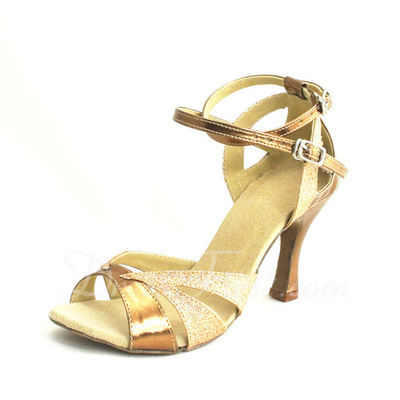 Women's Leatherette Heels Sandals Latin With Ankle Strap Dance Shoes (053055713)