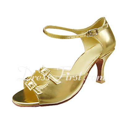 Women's Leatherette Heels Sandals Latin With Buckle Dance Shoes (053013340)