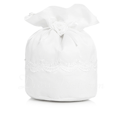 Fashional Satin With Imitation Pearl/Lace Bridal Purse (012003825)