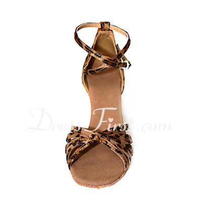 Women's Leatherette Heels Sandals Latin With Ankle Strap Dance Shoes (053013355)