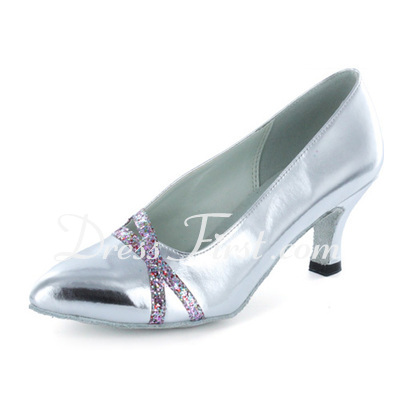 Women's Patent Leather Heels Pumps Modern Dance Shoes (053021441)