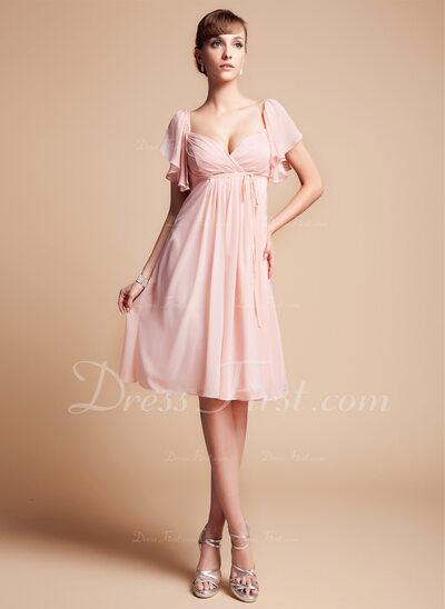 Imperialna Kochanie Do Kolan Chiffon Suknia dla Druhny (007004126)