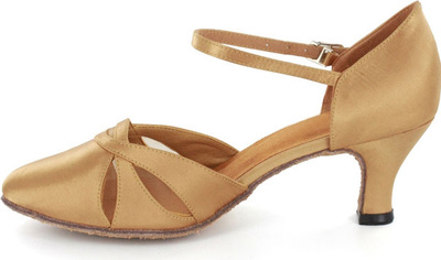 Women's Satin Heels Modern With Ankle Strap Dance Shoes (053021339)