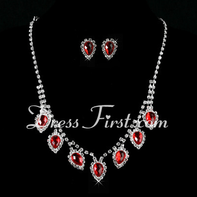Gorgeous Alloy With Crystal Ladies' Jewelry Sets (011027183)
