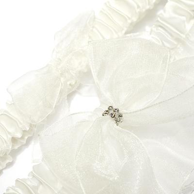 2-Piece/Simplicity Organza With Beading Wedding Garter Skirt (104024490)