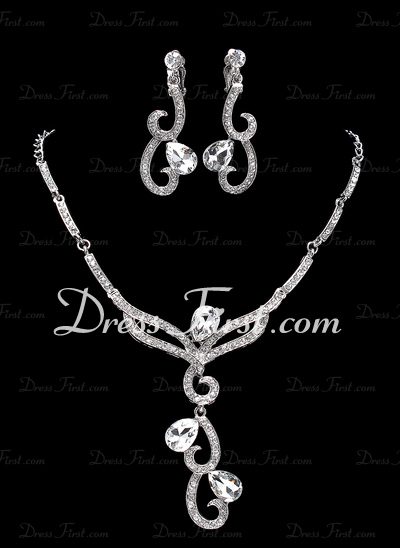 Sparking Alloy/Rhinestones Ladies' Jewelry Sets (011019359)