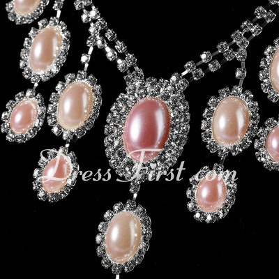 Shining Alloy/Pearl With Rhinestone Ladies' Jewelry Sets (011027196)